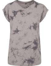 Ladies` Batik Dye Extended Shoulder Tee