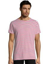 Men`s Round Neck Striped T-Shirt Miles