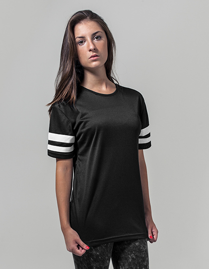Ladies` Mesh Stripe Tee